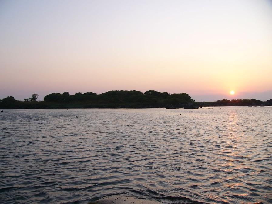 Usum-moshiri Island in the sunset